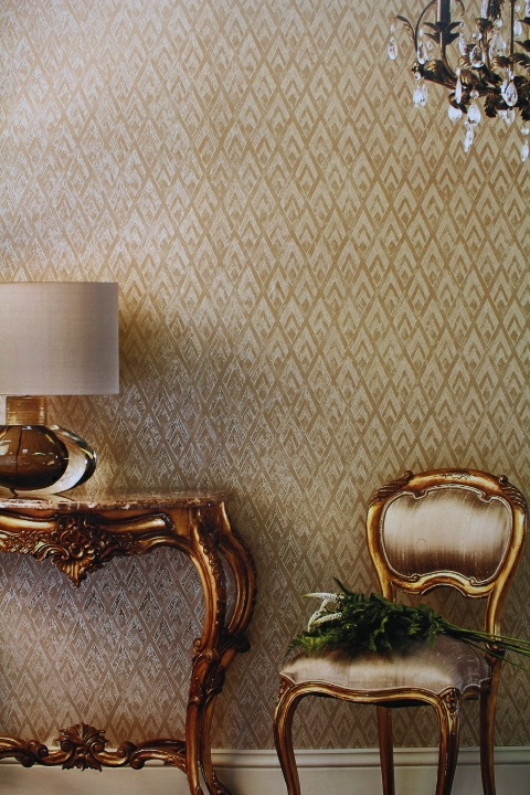 gold metallic living room wallpaper