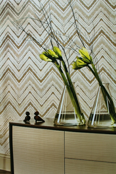 gold metallic wallpaper for living room