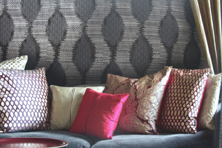 charcoal statement wall