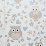 owl nursery wallpaper