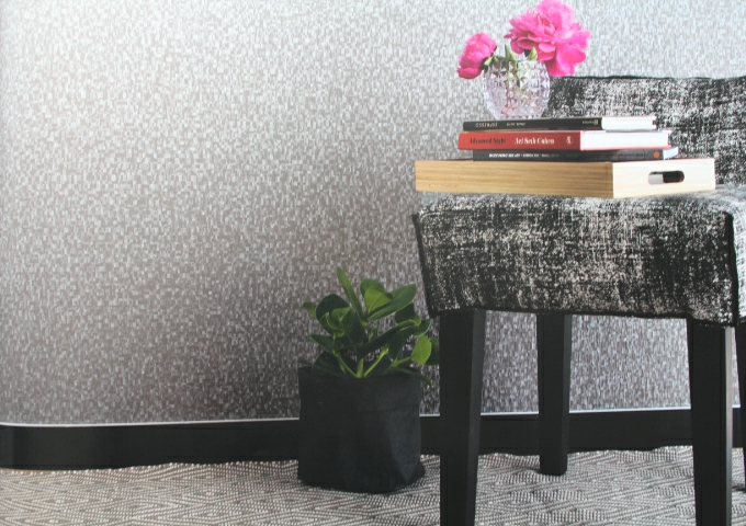 grey silver textured wall