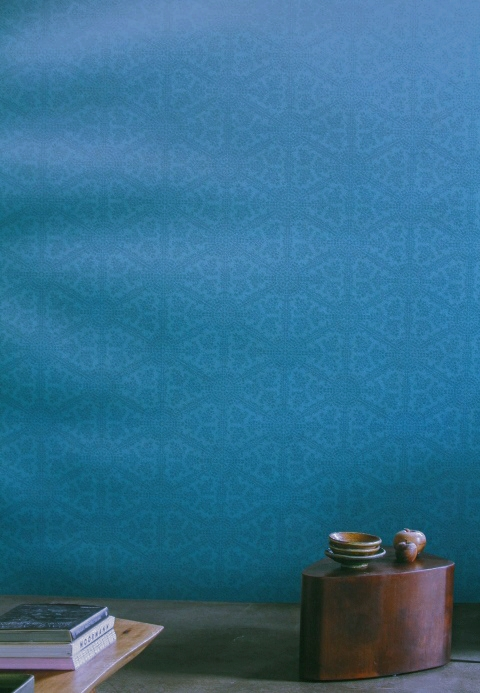 teal feature wallpaper
