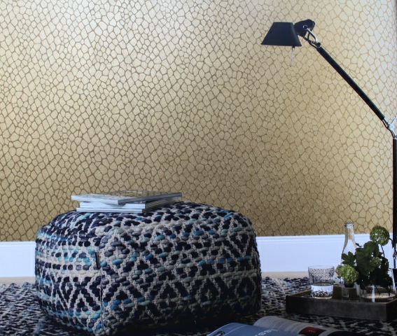 This Contemporary Metallic Wallpaper Design Could Be The Starting Point For A Sophisticated Scheme In Your Living Room