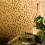 gold feature wall
