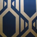 black and gold geometric wallpaper
