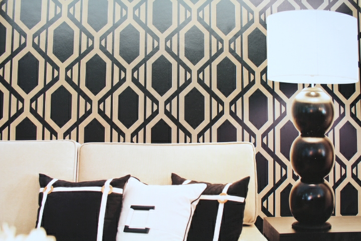 Geometric Wallpaper Retro Patterned Wallpaper