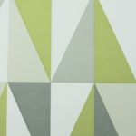 green and grey geometric triangle wallpaper