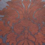 russet damask wallpaper