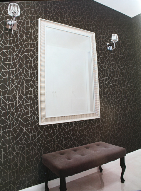 black and silver paved design feature wallpaper