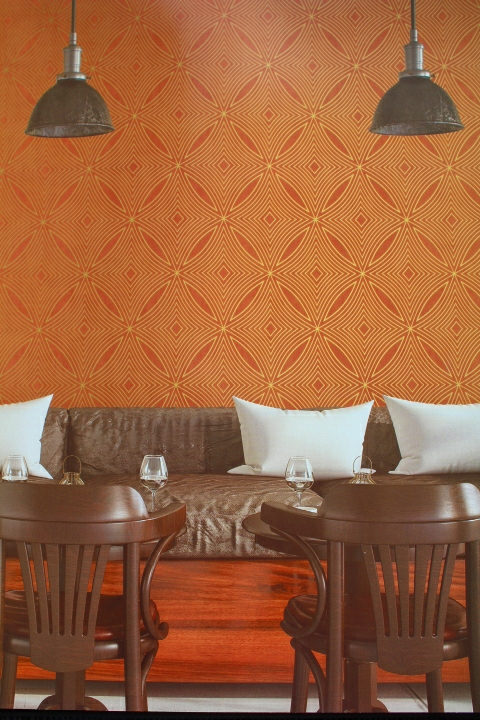 copper patterned feature wallpaper