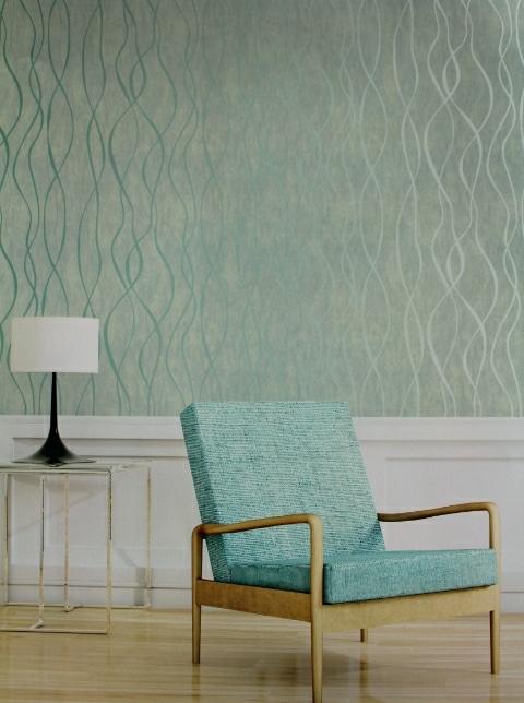 green feature wallpaper