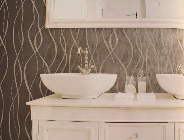 silver swirl wallpaper