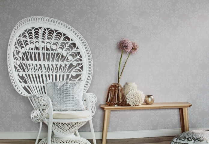pale grey glitter wallpaper