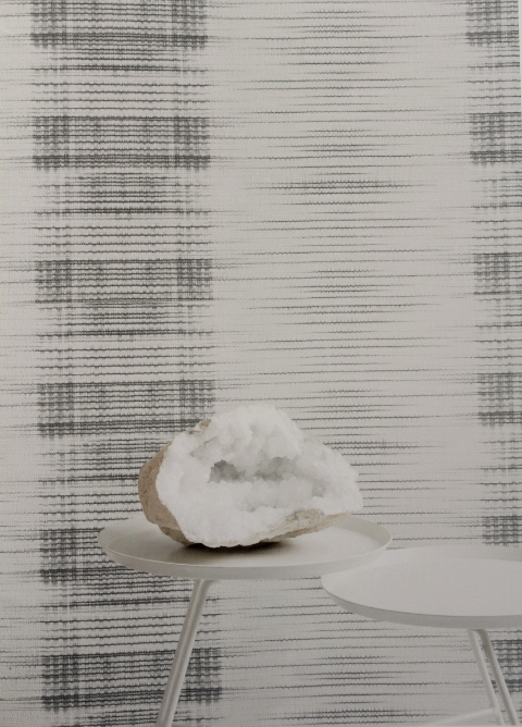 white and grey lounge feature wallpaper