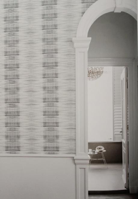 hallway feature wallpaper
