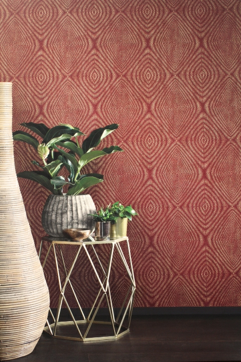 terracotta geometric wallpaper