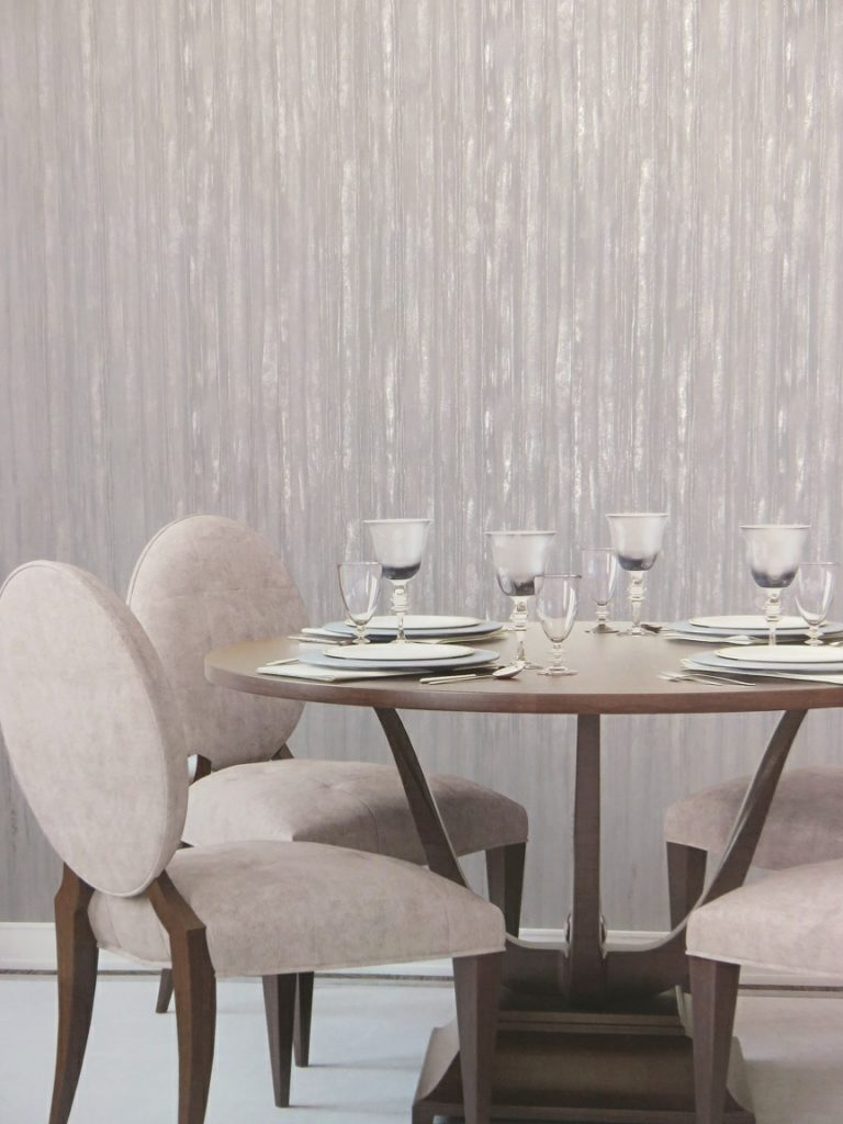 dining room reflective wallpaper