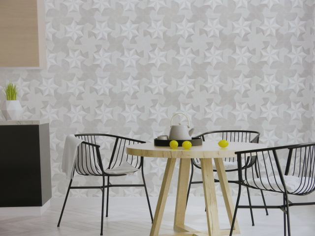 geometric patterned wallpaper