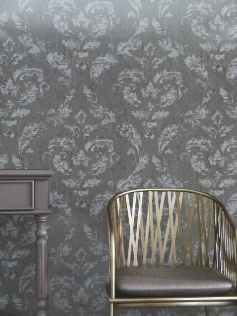contemporary damask wallpaper