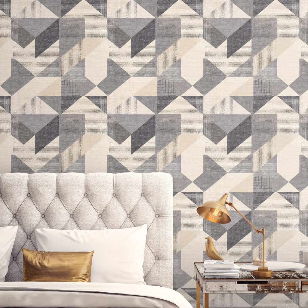 black and neutral geometric wallpaper