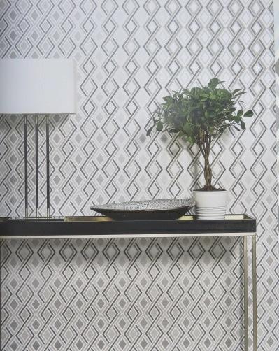 silver geometric wallpaper