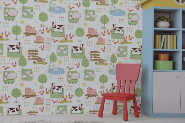 animal nursery wallpaper