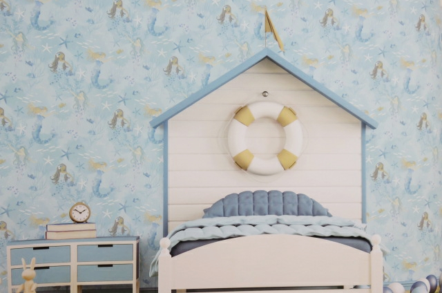 blue mermaids wallpaper
